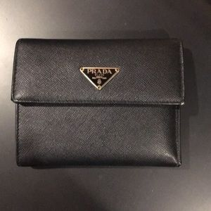 Prada Black Saffiano Leather Wallet